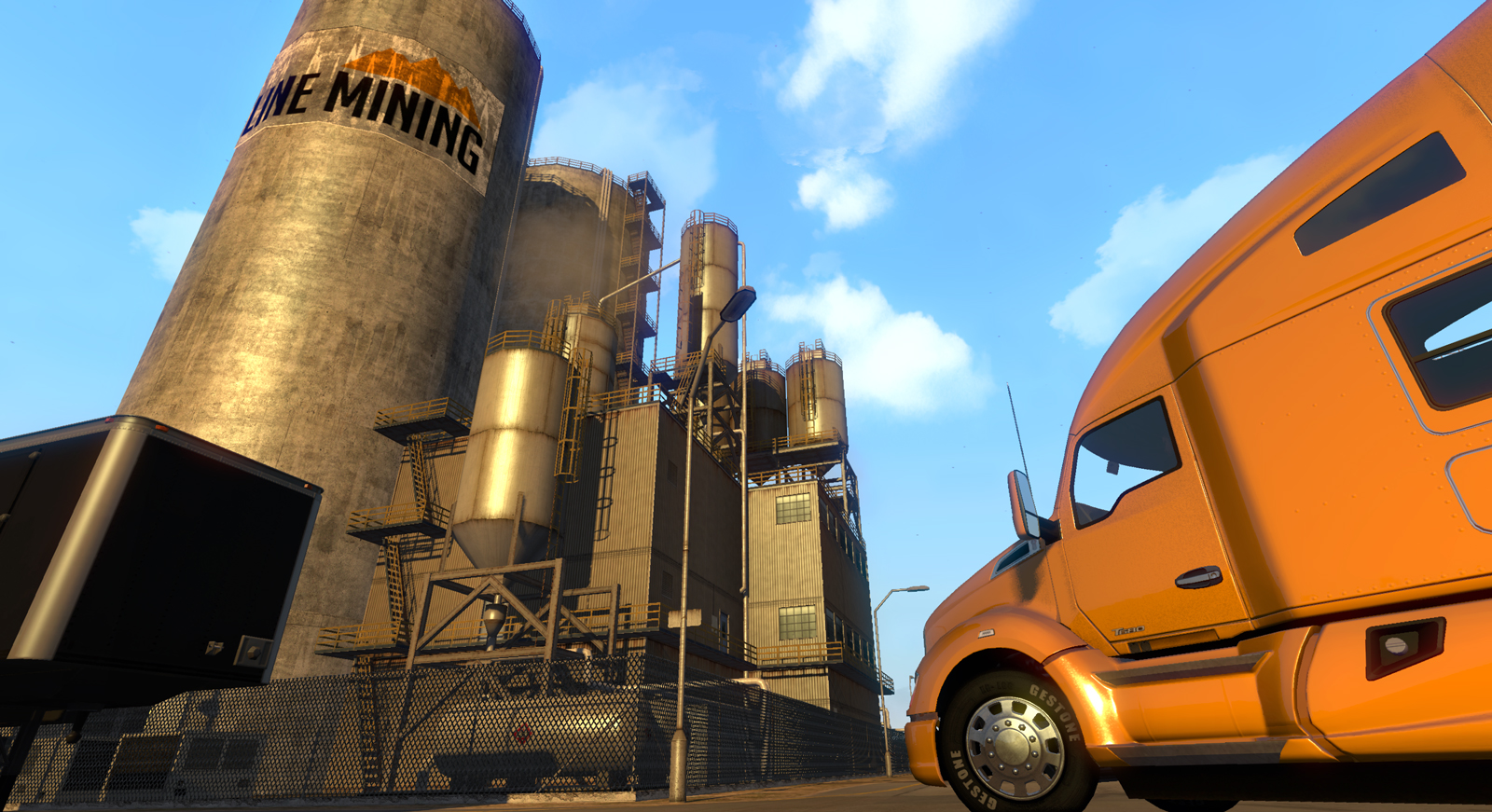 Across the desert in American Truck Simulator