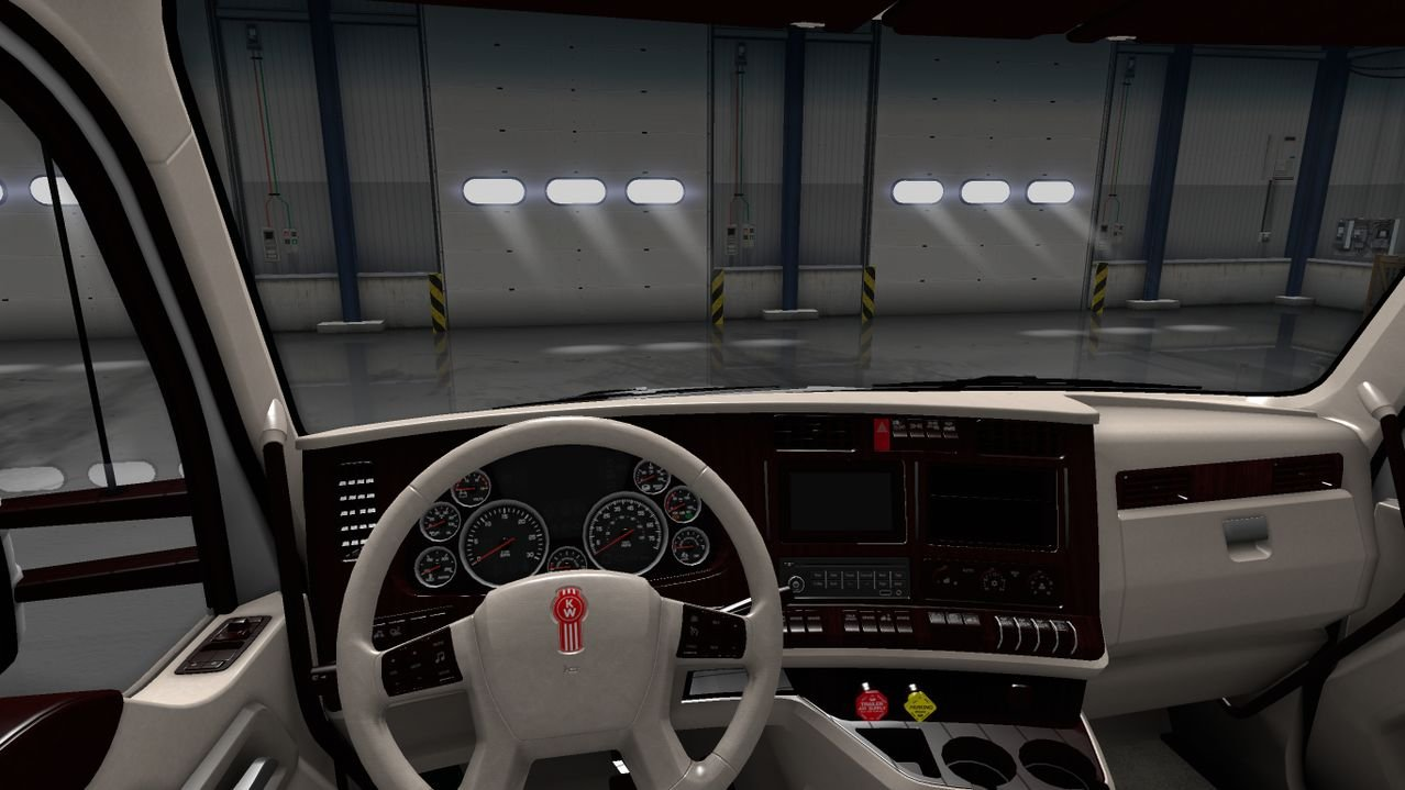 Kenworth T680 White Lux Interior