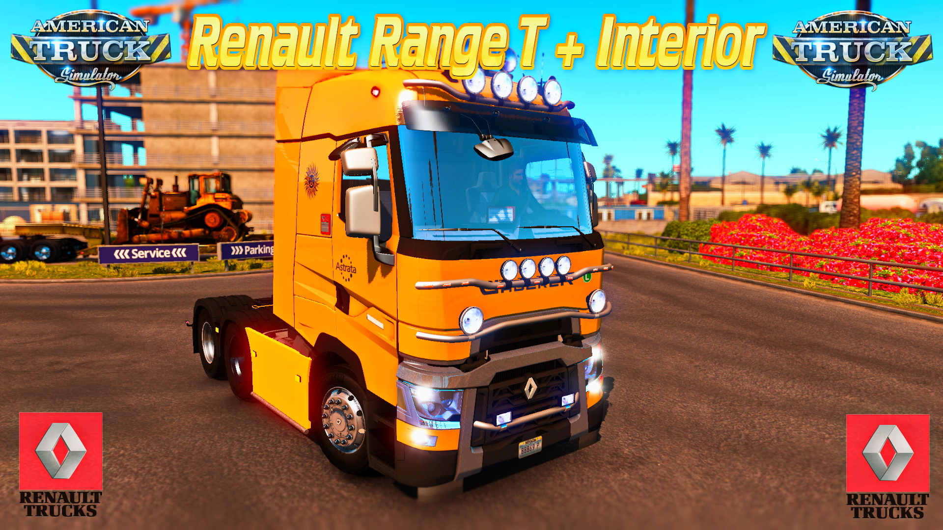 Renault Range T + Interior v1.0 for ATS