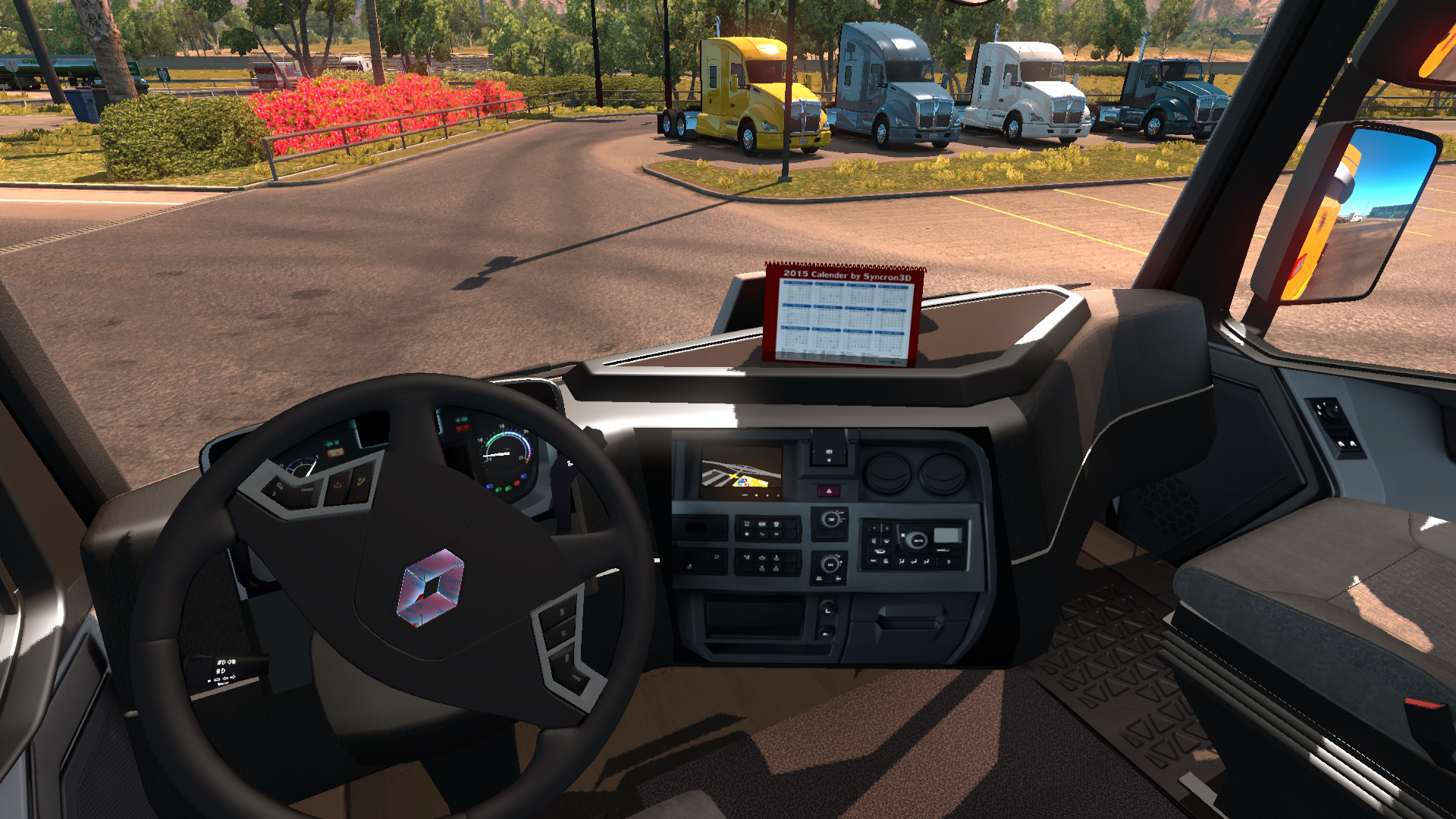 Renault range t interior v1 0 for ats american truck for Renault range t interieur
