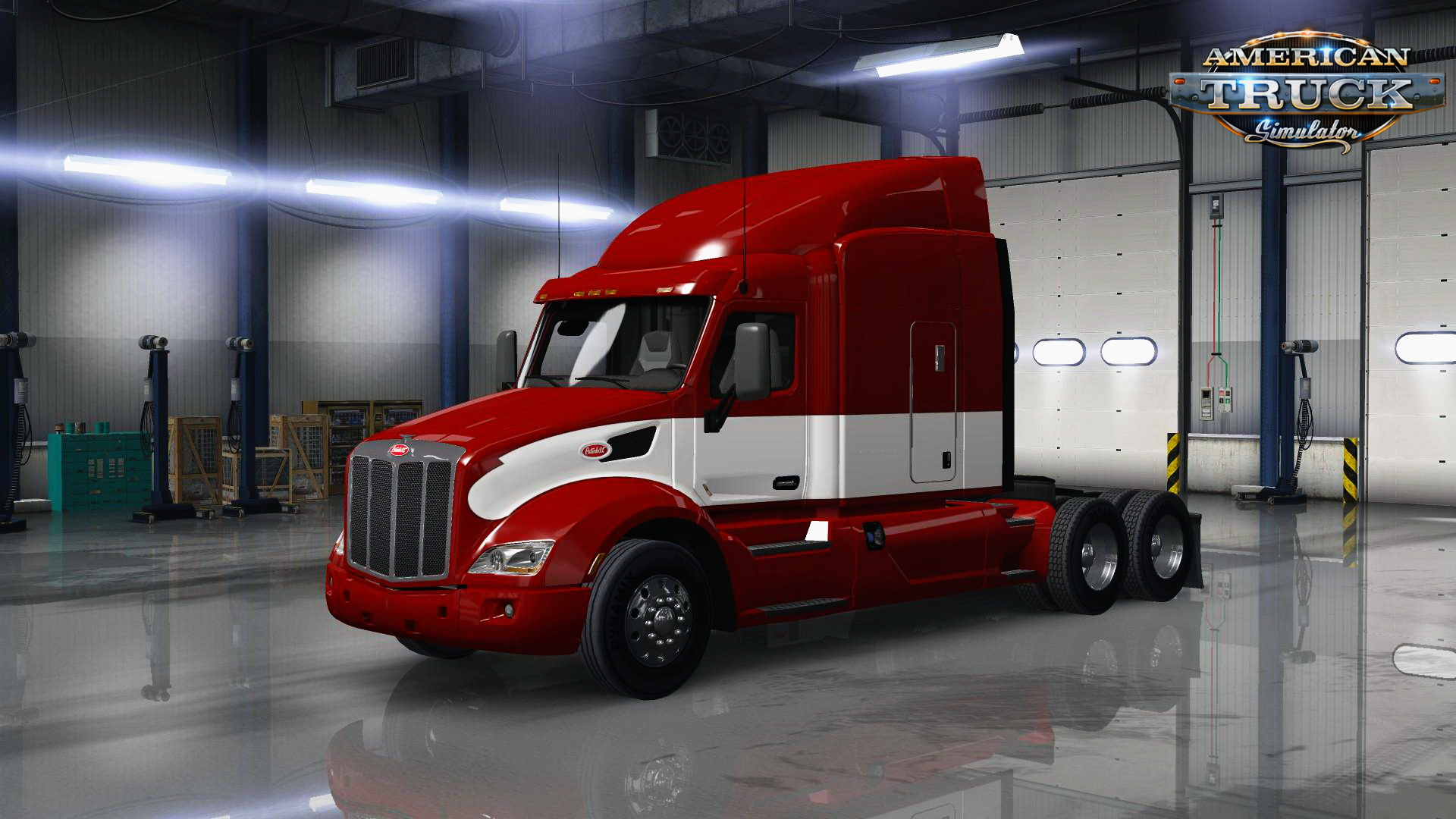 Red/White Skin for Peterbilt 579 v1.0