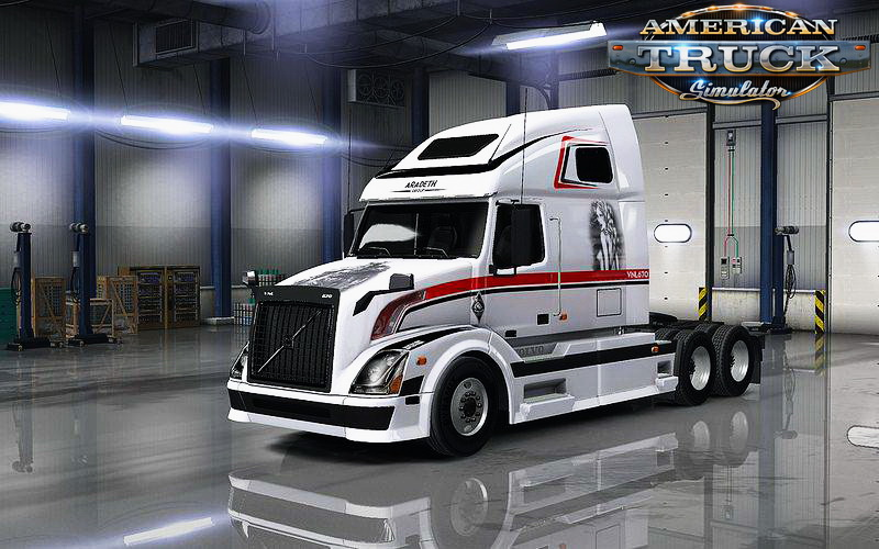Volvo VNL 670 + Interior v1.23 for ATS