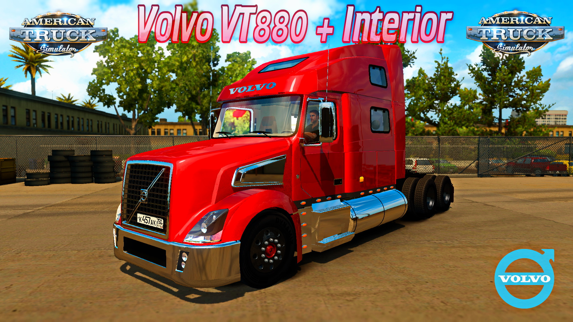Volvo VT880 + Interior v1.0 for ATS