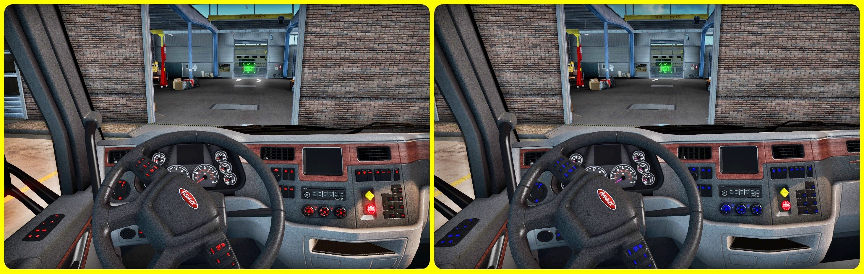 Interior Lighting for Peterbilt Truck v1