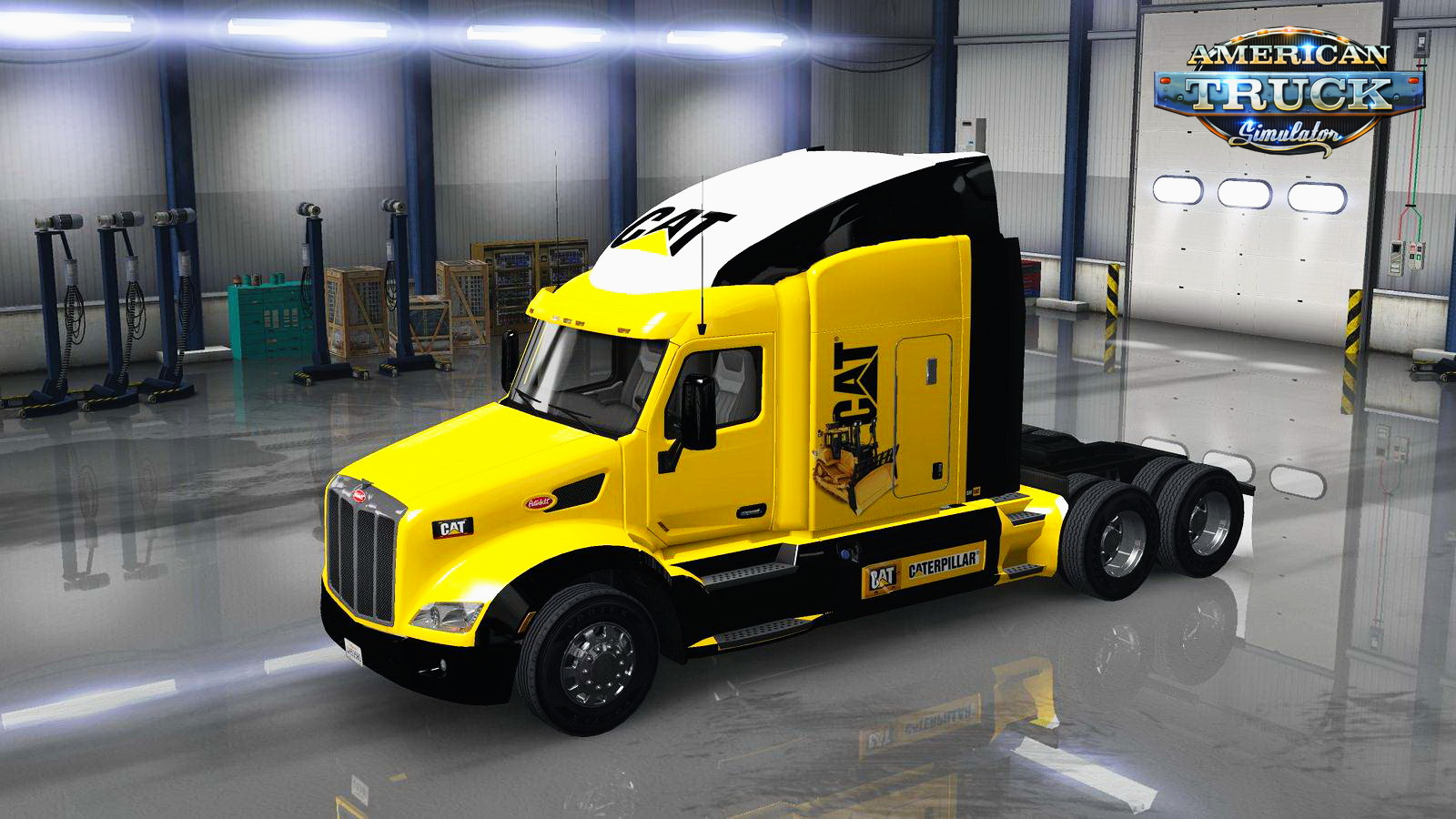 Caterpillar Skin for Peterbilt 579 v1.0 by jaws