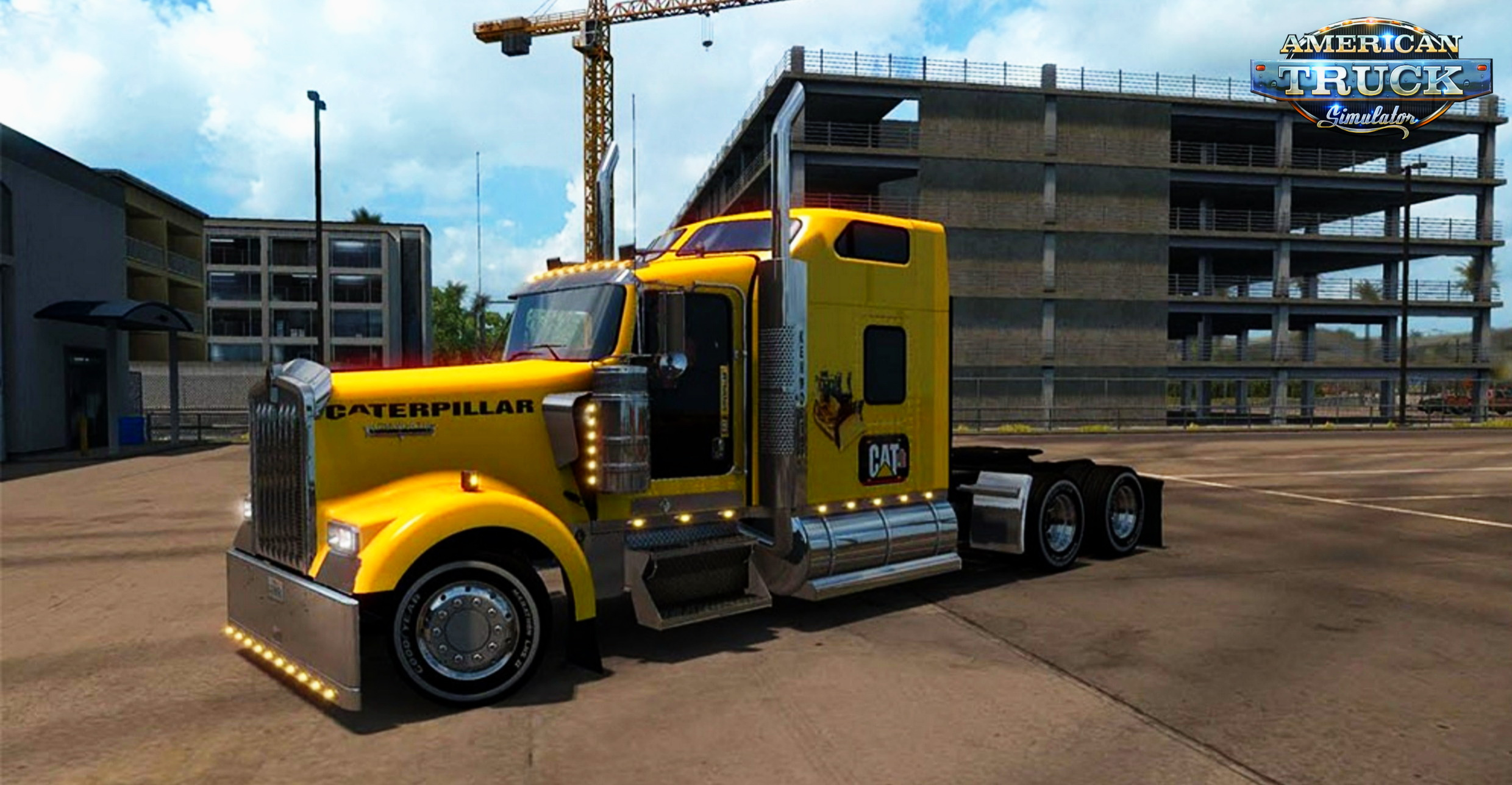 Caterpillar Skin for Kenworth W900 v1.0 by jaws