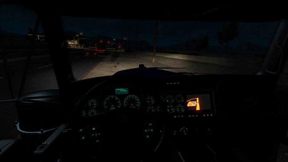Kenworth W900 dash backlights