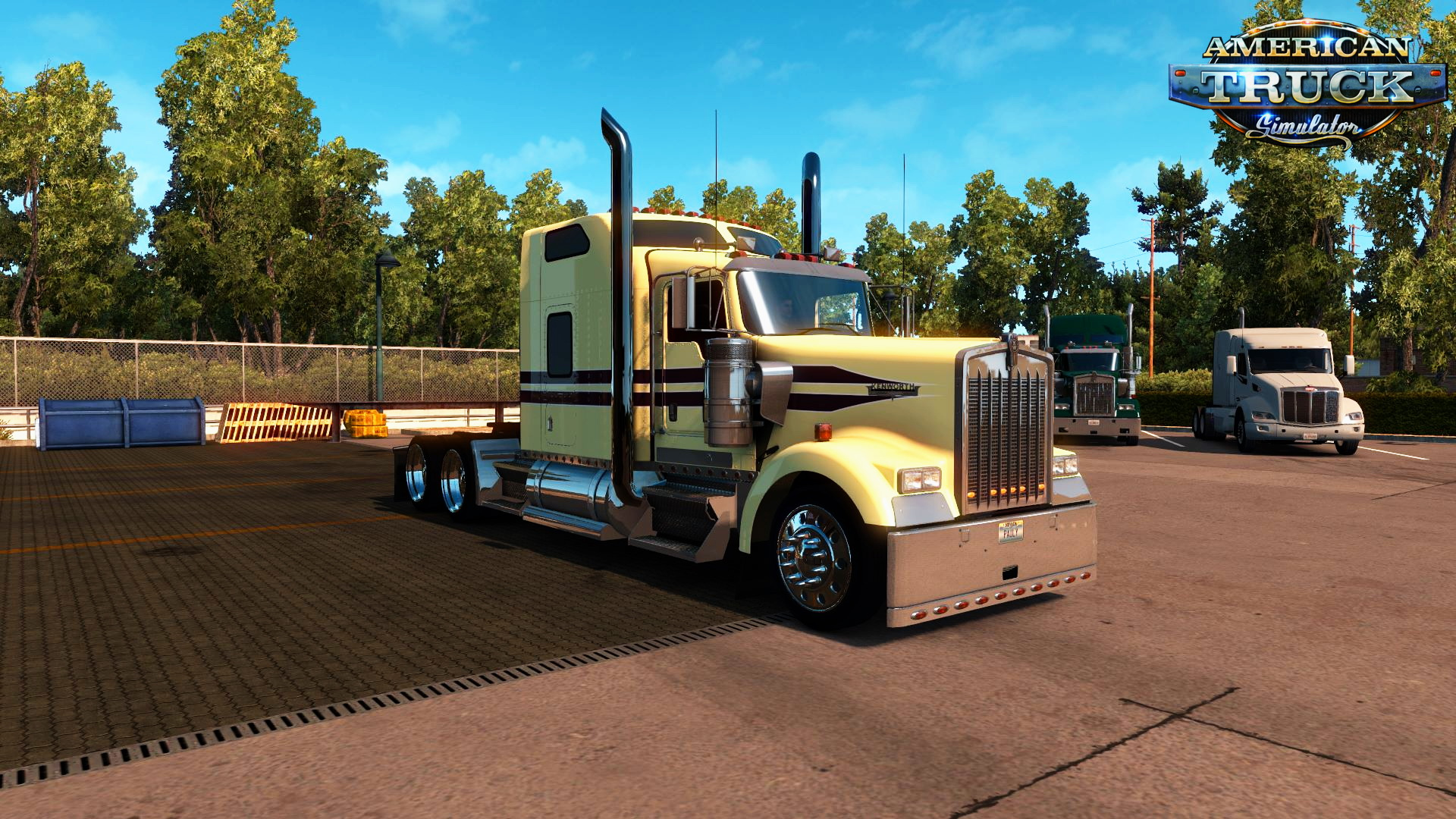 Creamy skin for Kenworth W900 v1.0 by Pauly