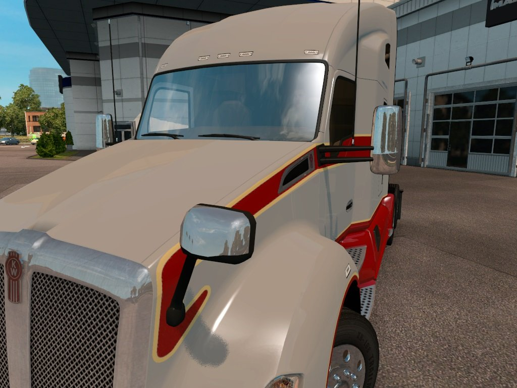Fixed mirrors for Kenworth T680