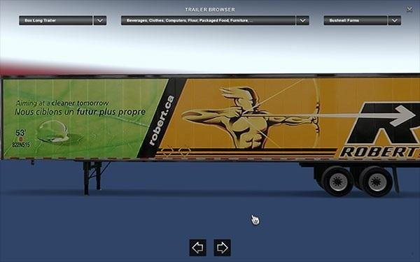 Groupe Robert (Robert Transport Canada) Trailers Pack