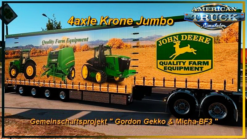 Trailer 4axle Krone Jumbo v1.0 for ATS