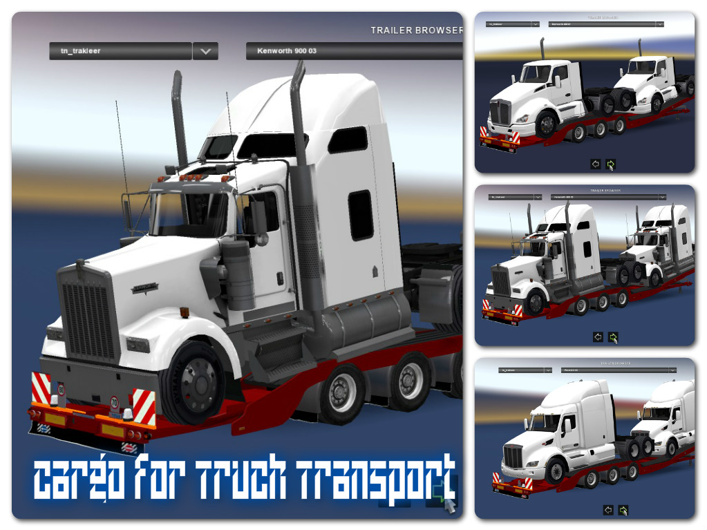 Cargo for Truck Transport Trailers