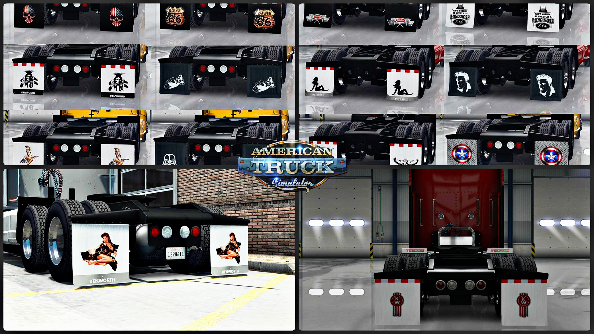 HD Mudflaps Pack v1.2 by Aradeth for ATS