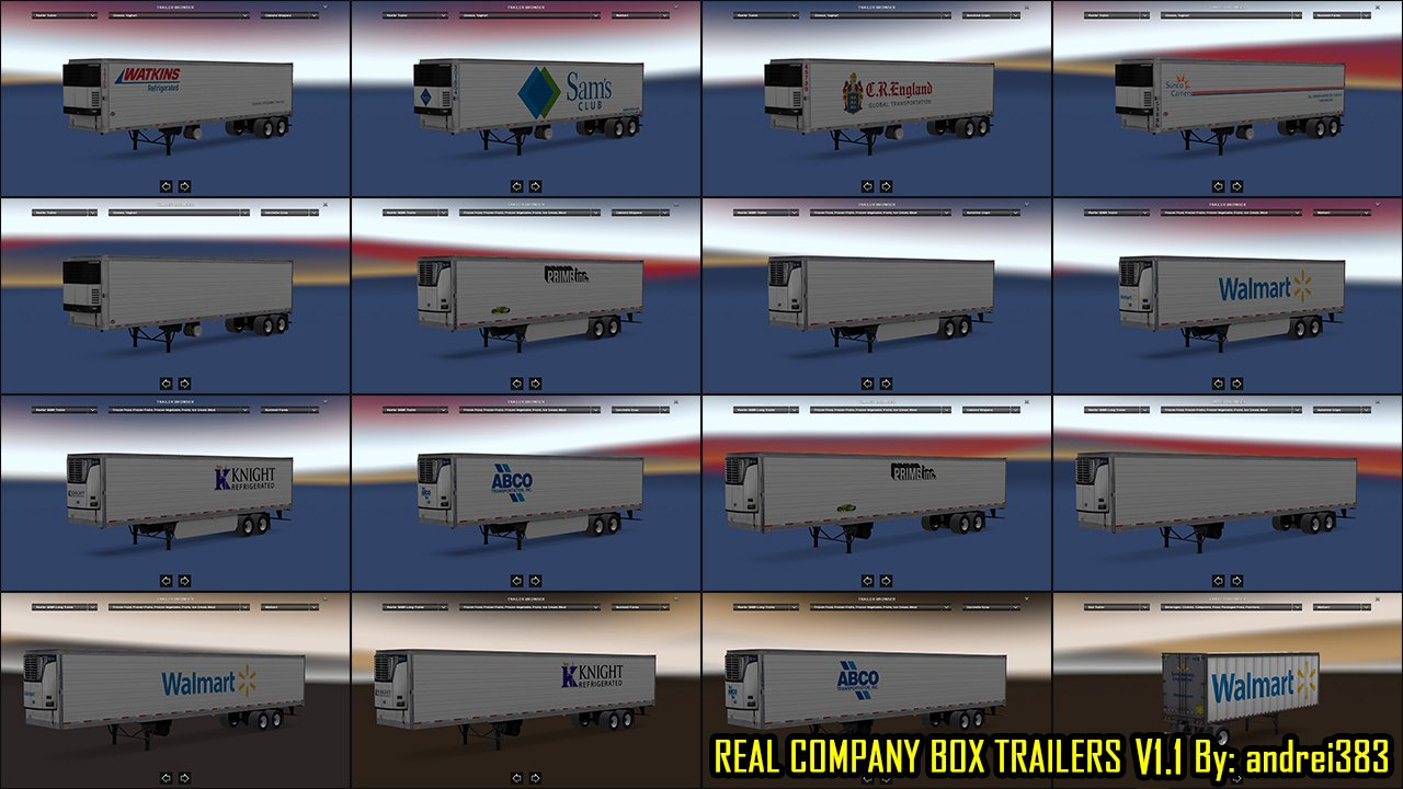 Real Company Box Trailers v1.1 by andrei383