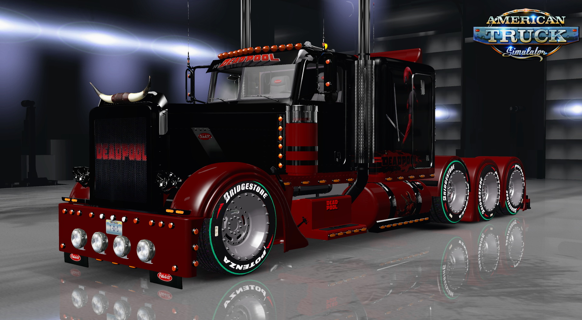 Deadpool Skin for Peterbilt 389 v1.0 by T-D-S