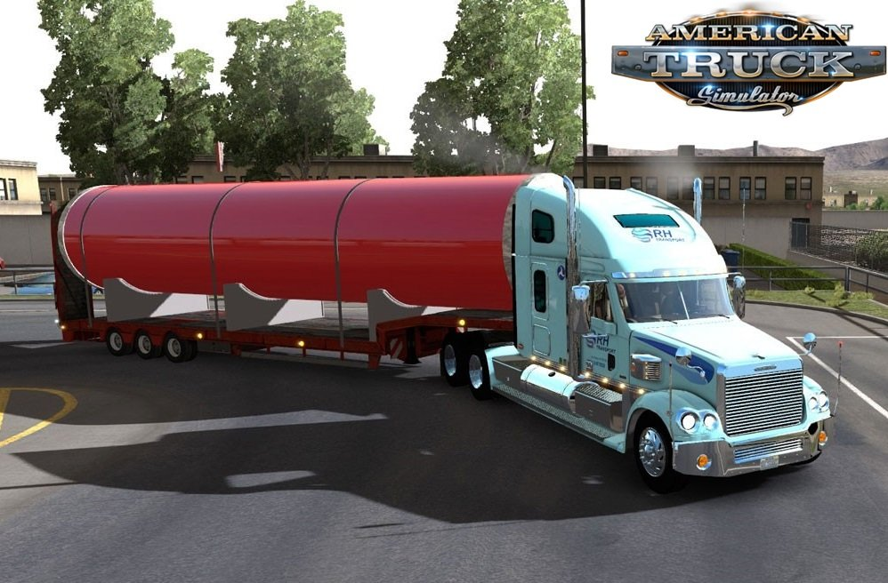 Large Metal Tube Trailer