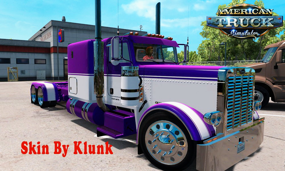 Metallic Mauve/White Skin for Peterbilt 389 v1.0 by Klunk