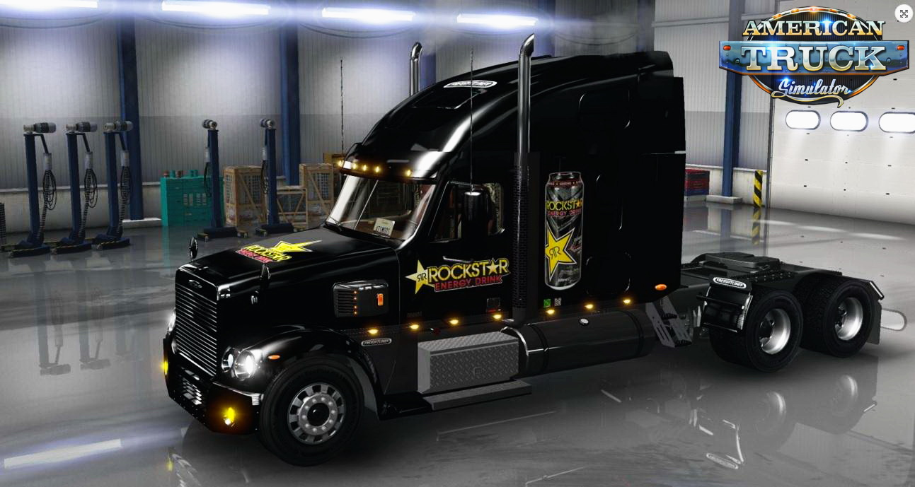 Rockstar Energy Drink Skin for Freightliner Coronado v1.0 by BarbootX