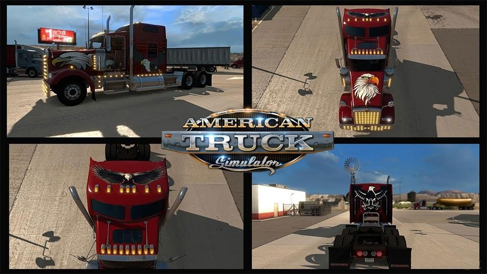 Eagle Skin for Kenworth W900 Truck