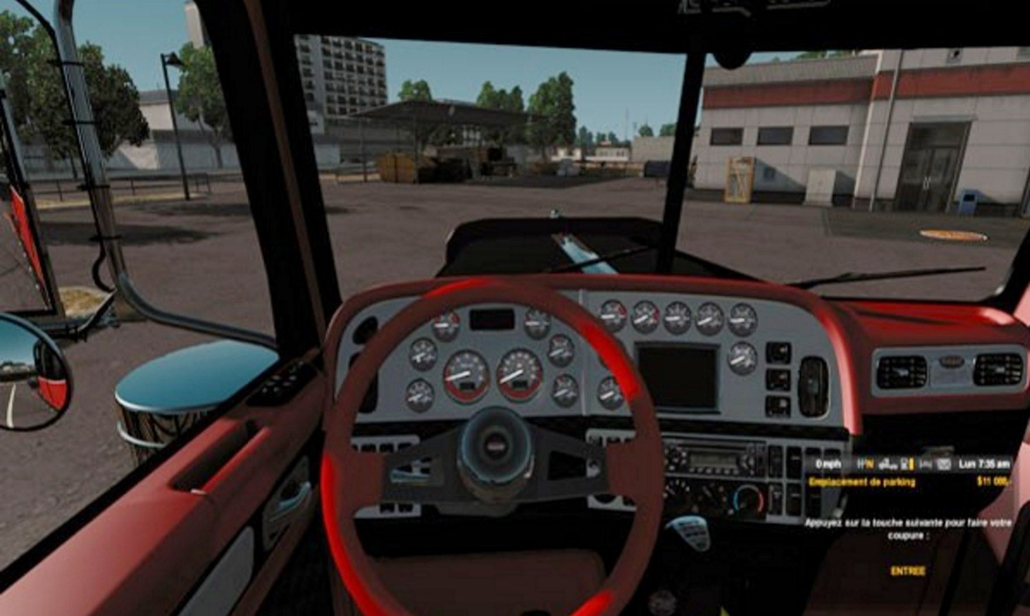 Peterbilt Red and Black Interior Mod