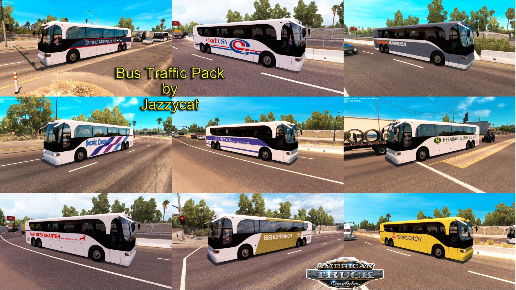 ATS Bus traffic pack v1.1 by Jazzycat (v1.6.x)
