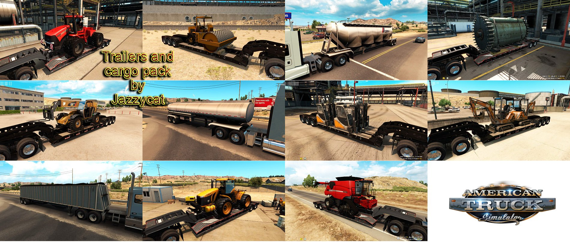 ATS Trailers and cargo pack v1.0 by Jazzycat