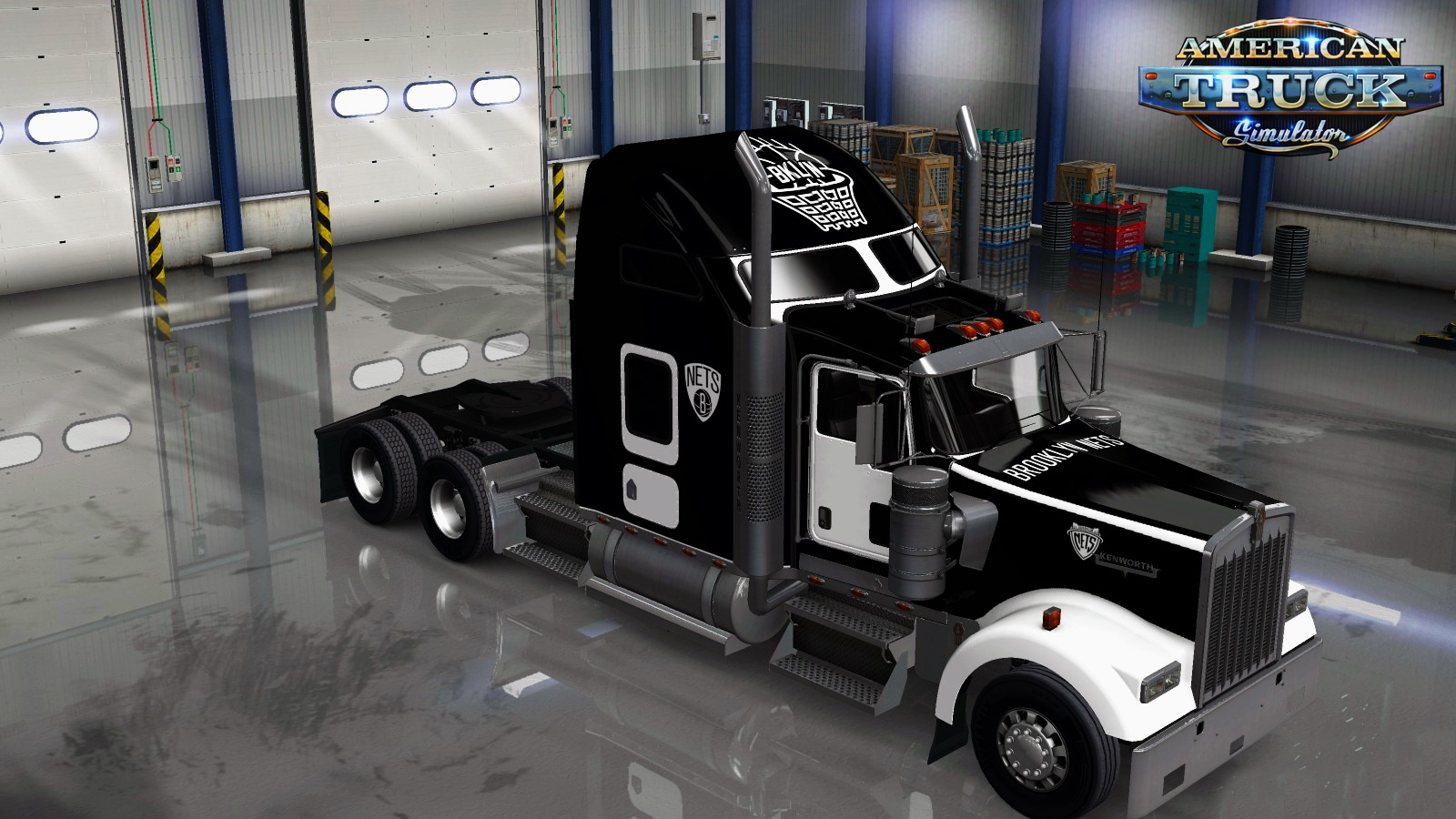 Brooklyn Nets Skin for Kenworth W900 v1.0 by LazyMods