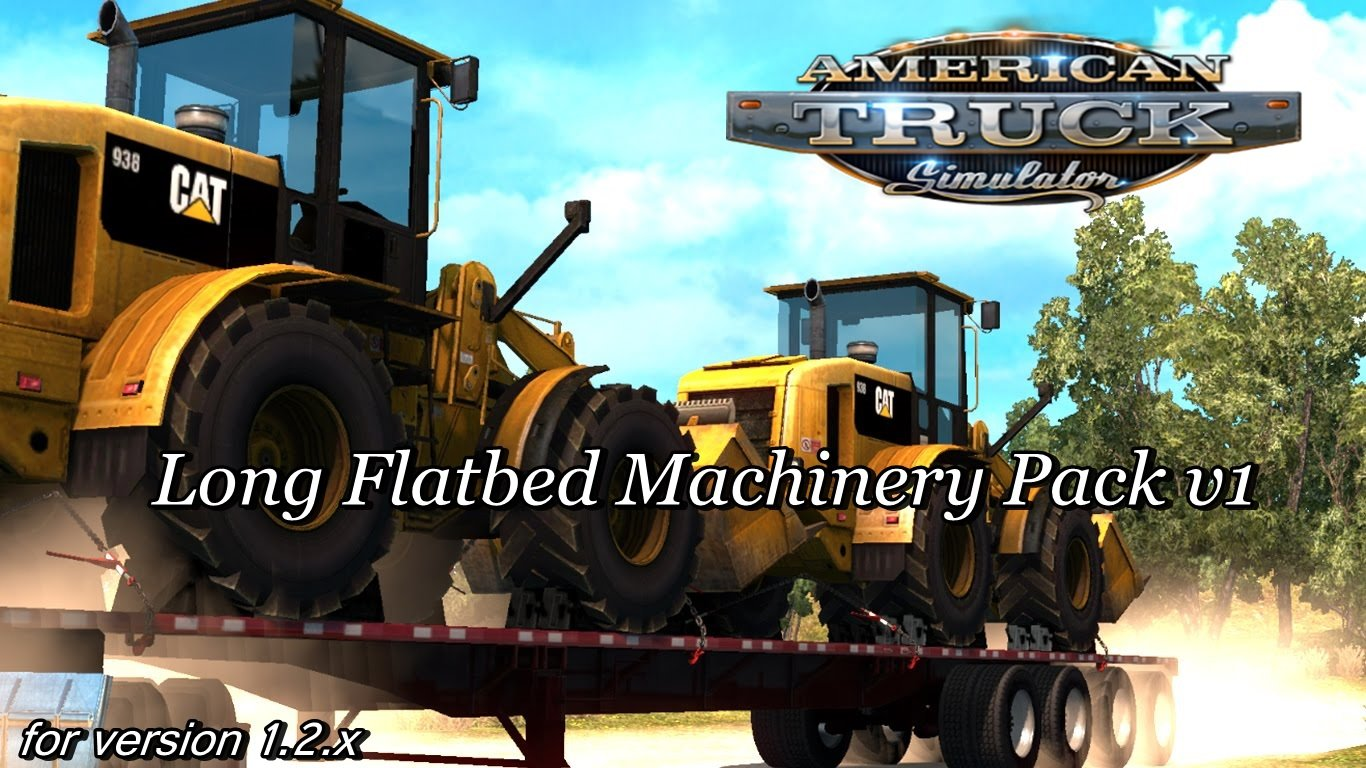 ATS Long Flatbed Machinery Pack v1.0