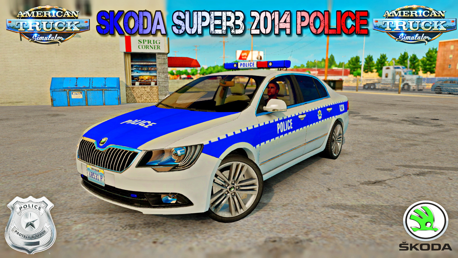 Skoda Superb 2014 Police v1.0 for ATS