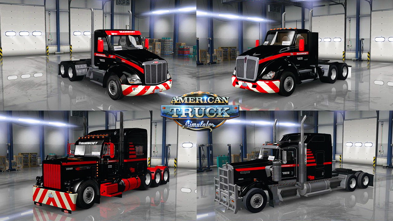Mammoet USA Skins Pack for trucks v1.0 by Hounddog