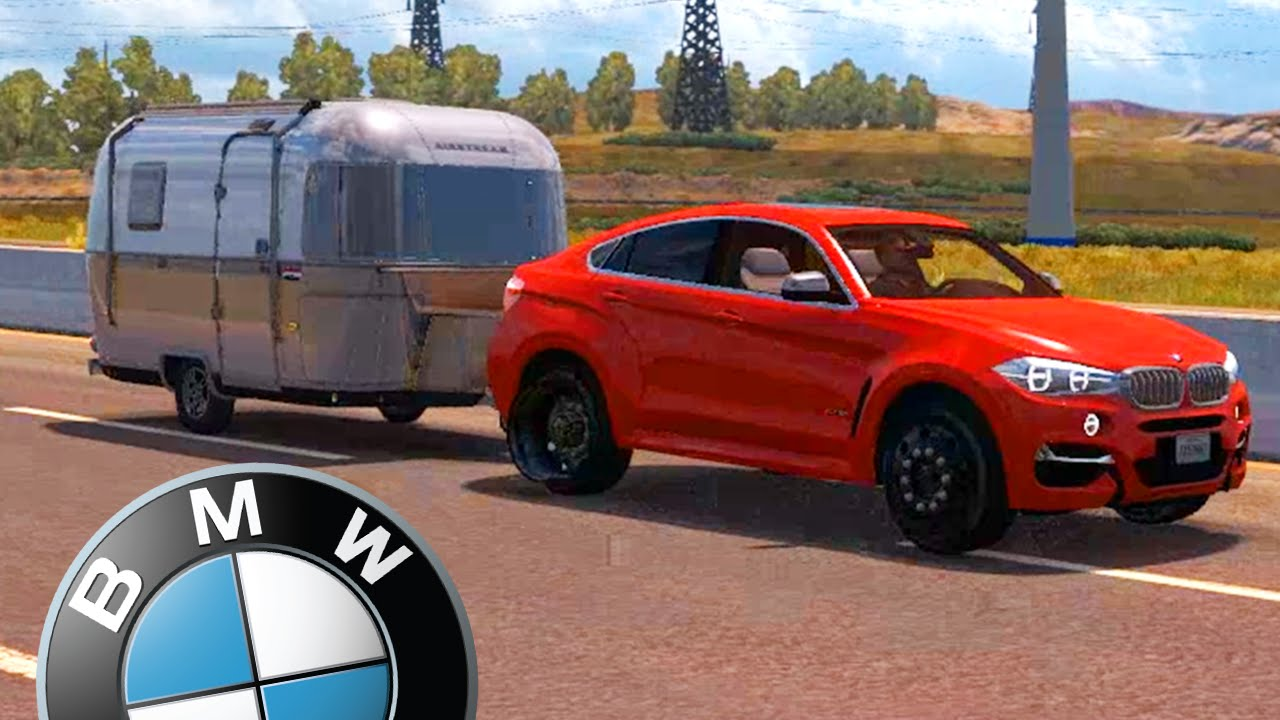Bmw x6 com g27 american truck simulator