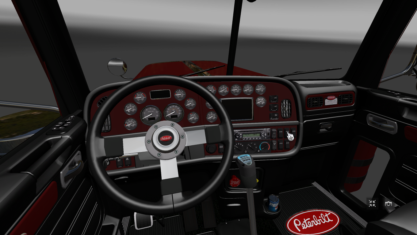 Peterbilt 389 interior v2 0 ats mods american truck - Peterbilt 379 interior accessories ...