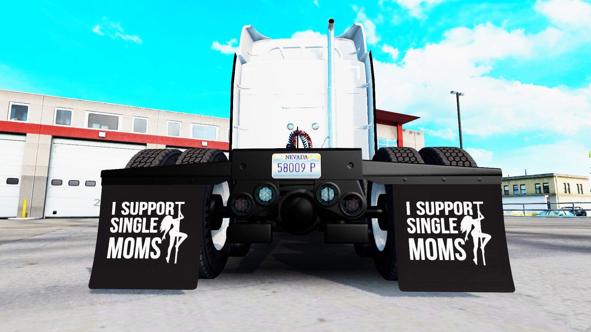 I Support Single Moms Mudflap Pack v2.2 by BlackBloodRum (v1.6.x)