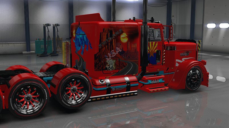 Arizona USA Red Skin for Peterbilt 389 v1.0 by TDS