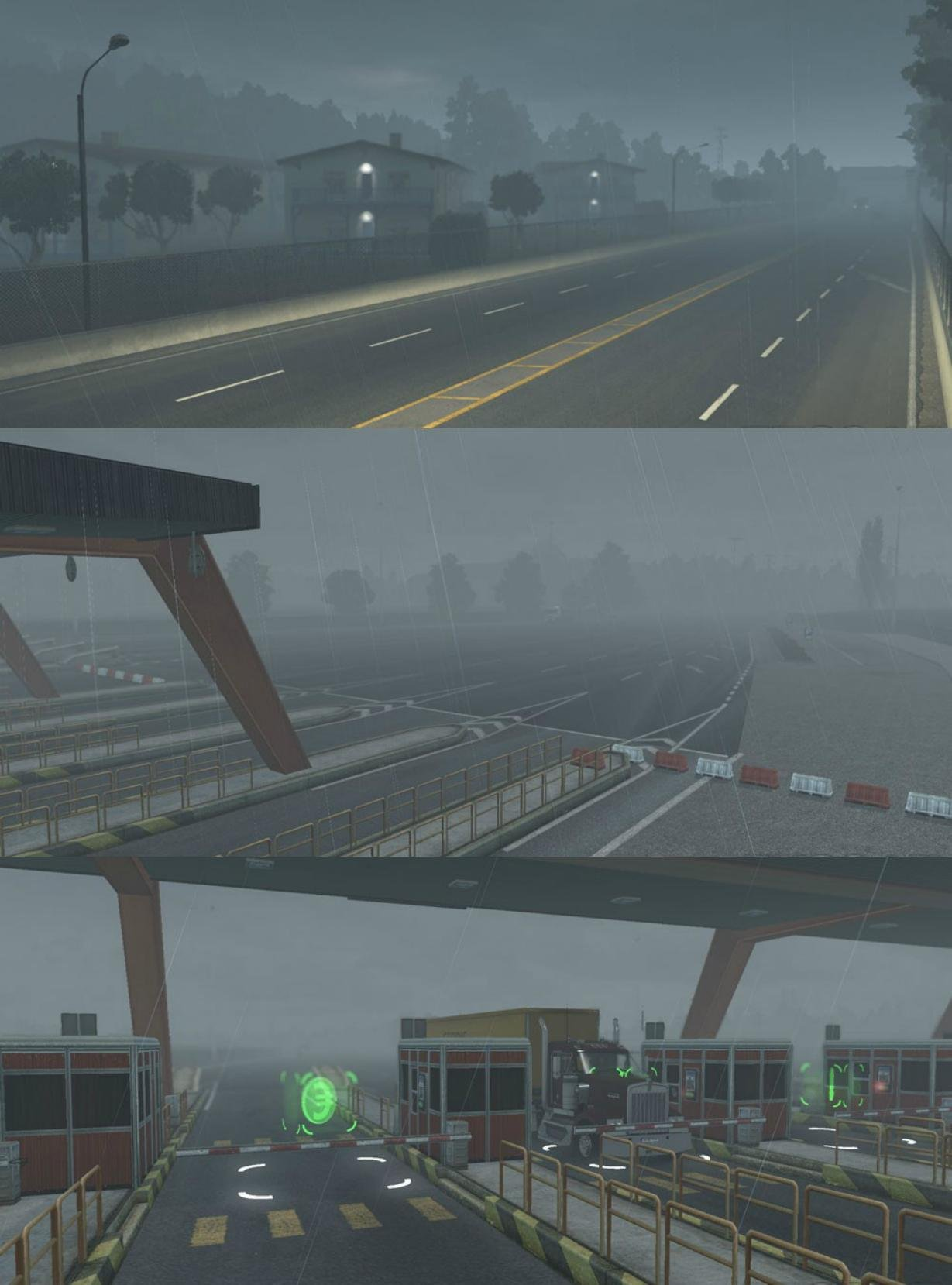 3D Rain and Fog Mod v1.1 (Update) for ATS