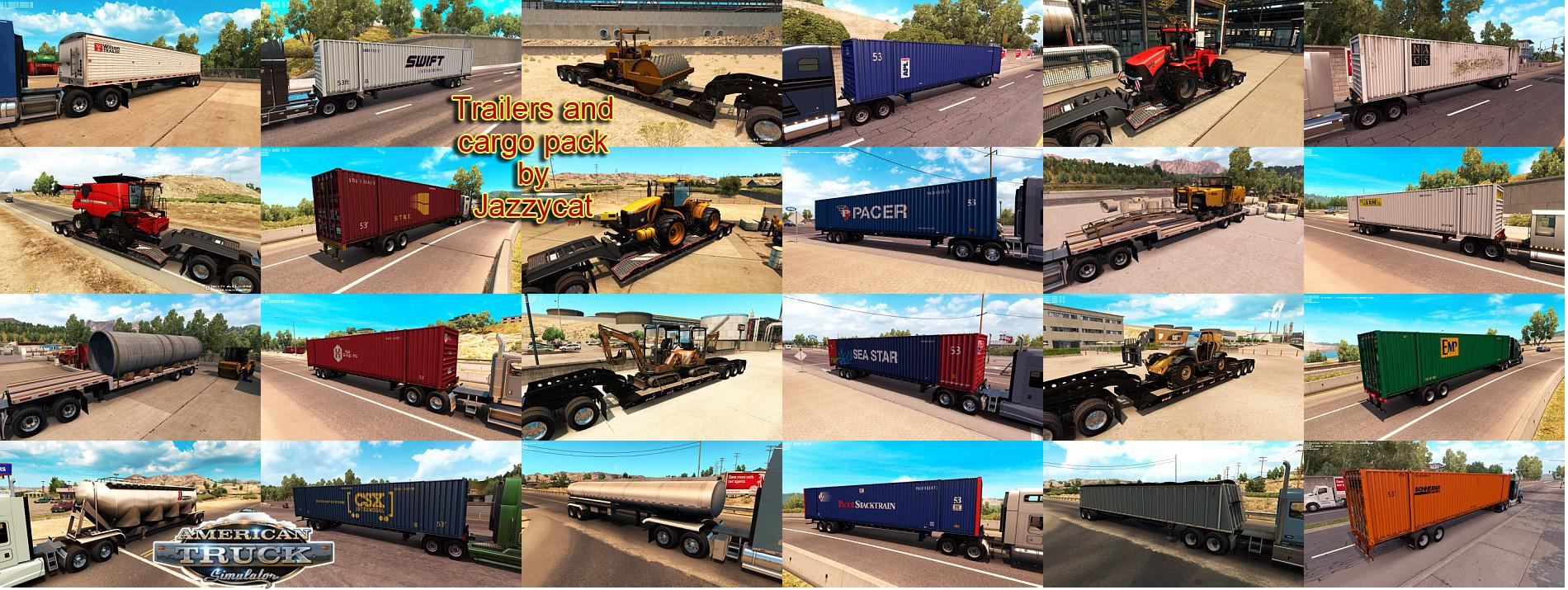 ATS Trailers and Cargo Pack v1.2 by Jazzycat