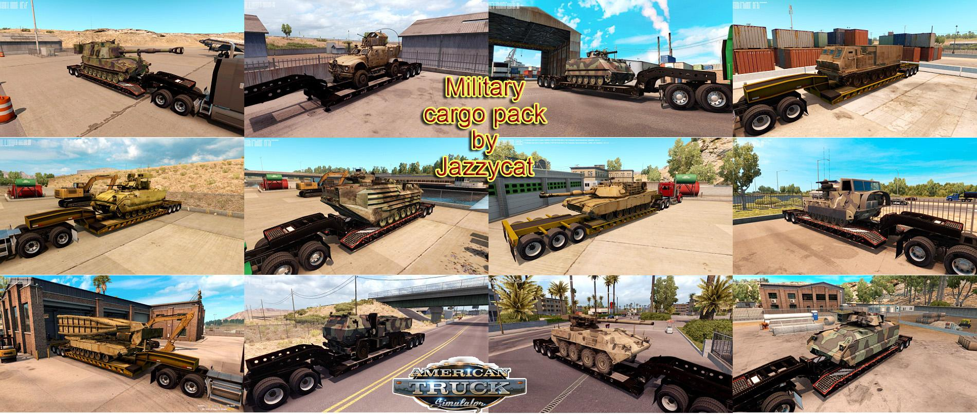 ATS Military Cargo Pack v1.0.1 by Jazzycat (v1.6.x)