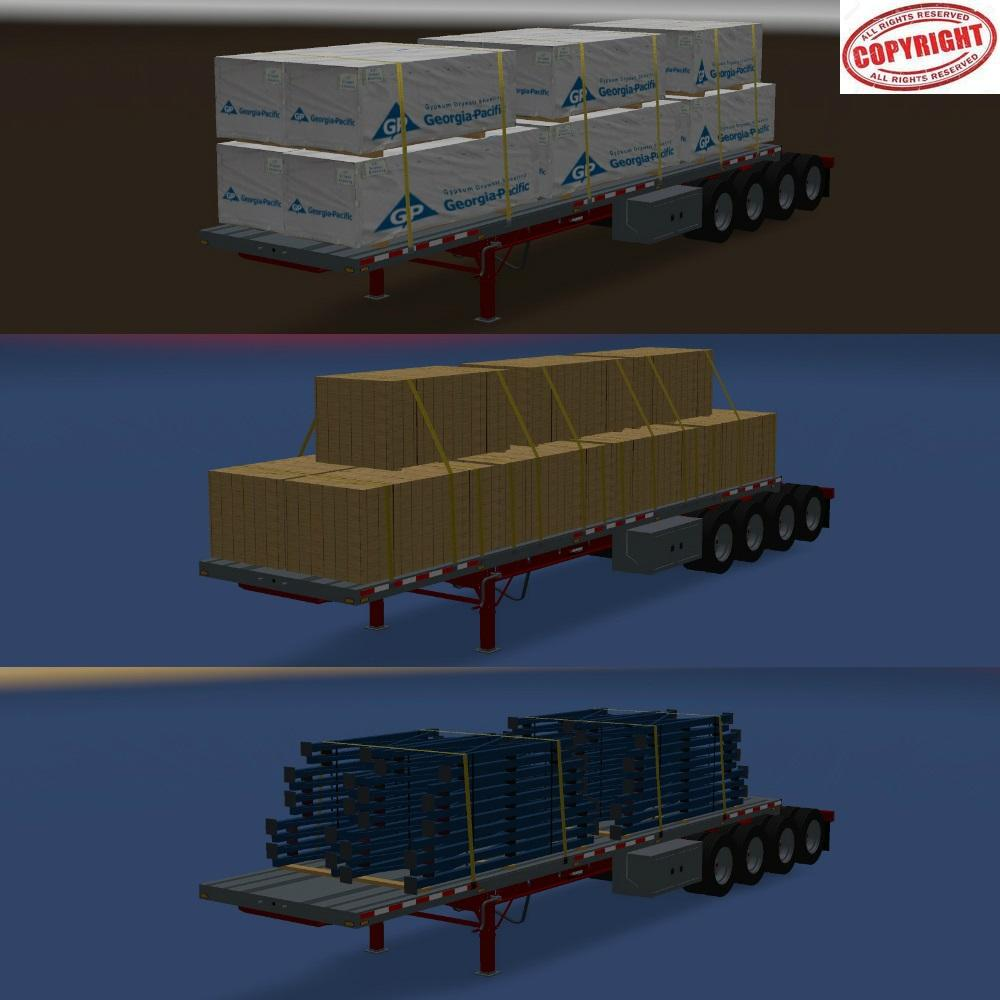 Trailer Manac 4 axles v1.0 for ATS