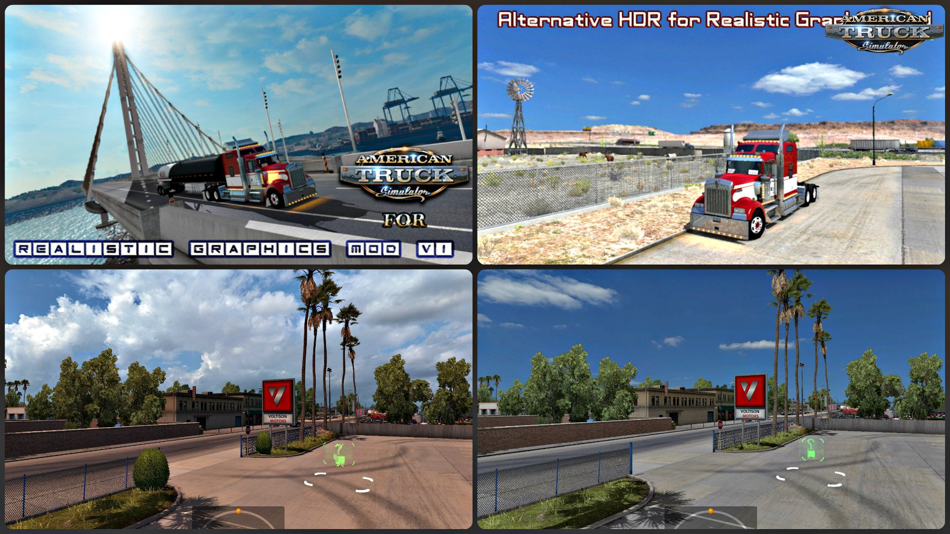 Realistic Graphics Mod v1.4 + Alternative HDR for Realistics Graphics Mod (v1.4.x)