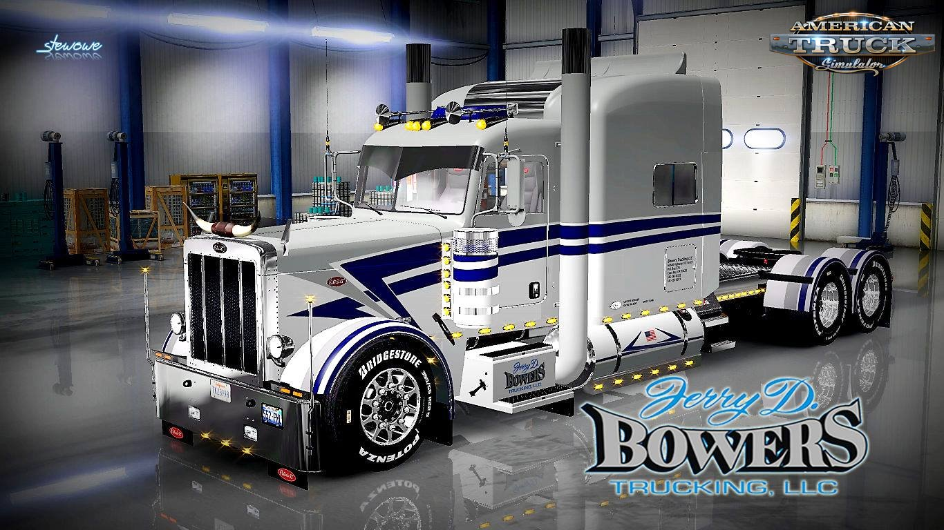 Peterbilt 389 Bowers Trucking Skin v1.0