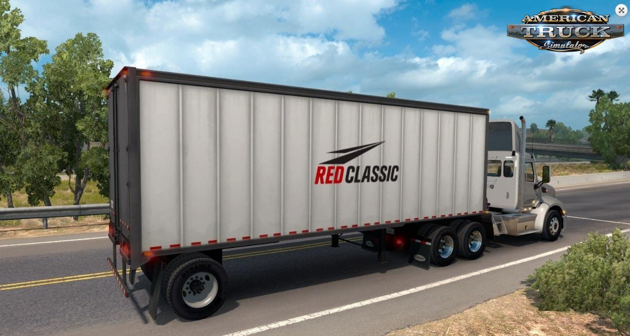 Red Classic box trailer v1.0 by BarbootX