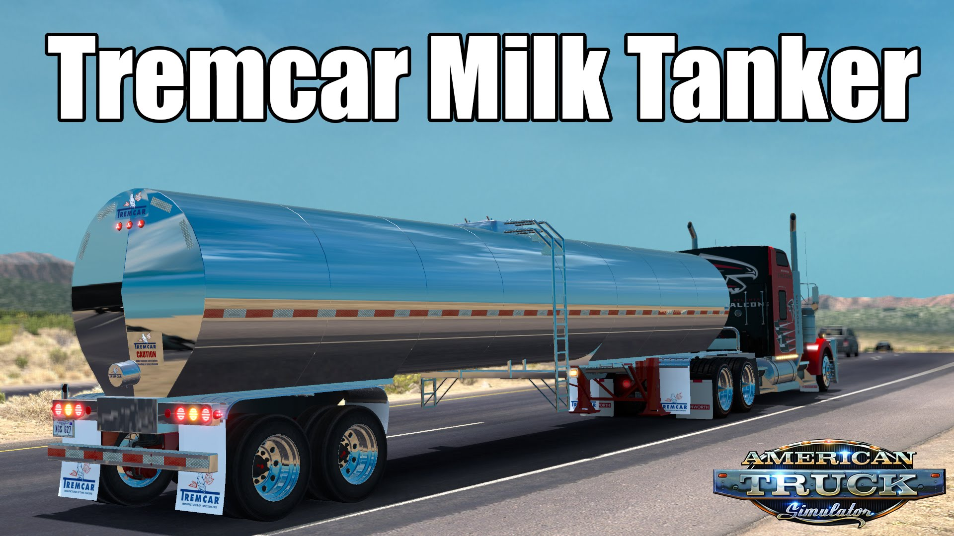 ATS Mods - Tremcar Milk Tanker (Video gameplay)