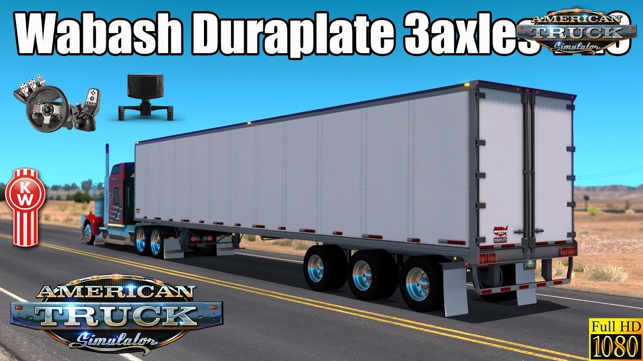 Trailer Wabash Duraplate 3axles v1.0 (v1.4.x)