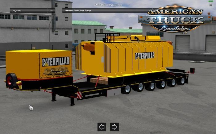 Trailer with Caterpillar Heavy Transformer for Ats