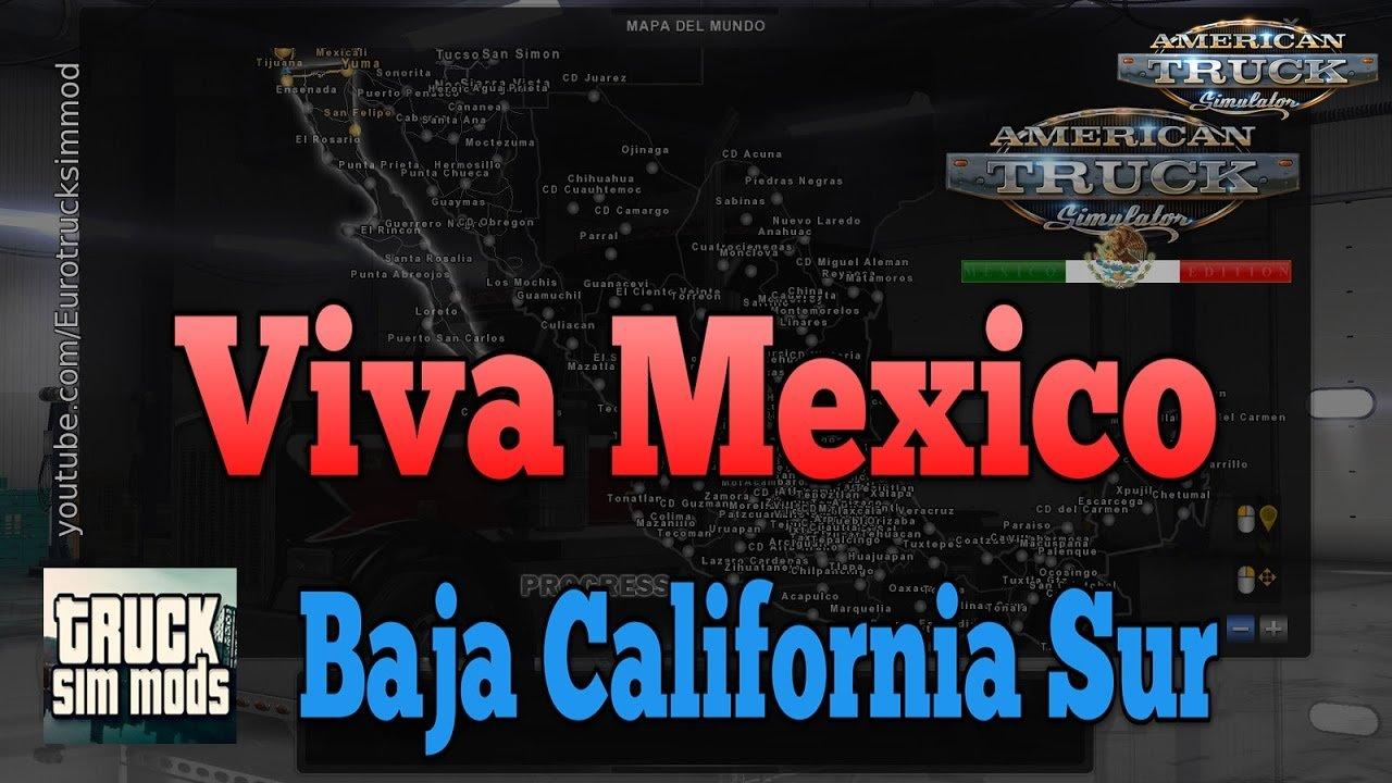 Viva Mexico Map - Baja California Sur (American Truck Simulator)