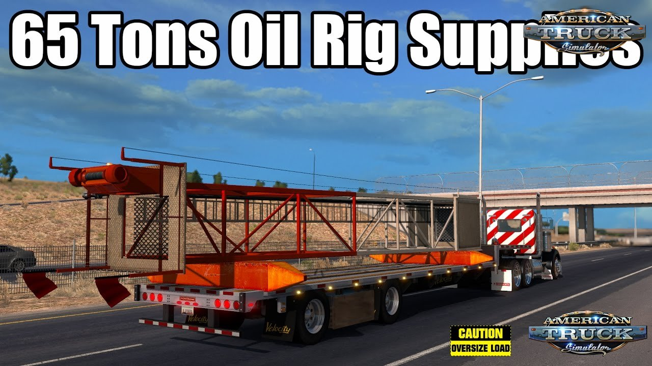 Trailer 65 Tons Oil Rig Supplies for ATS