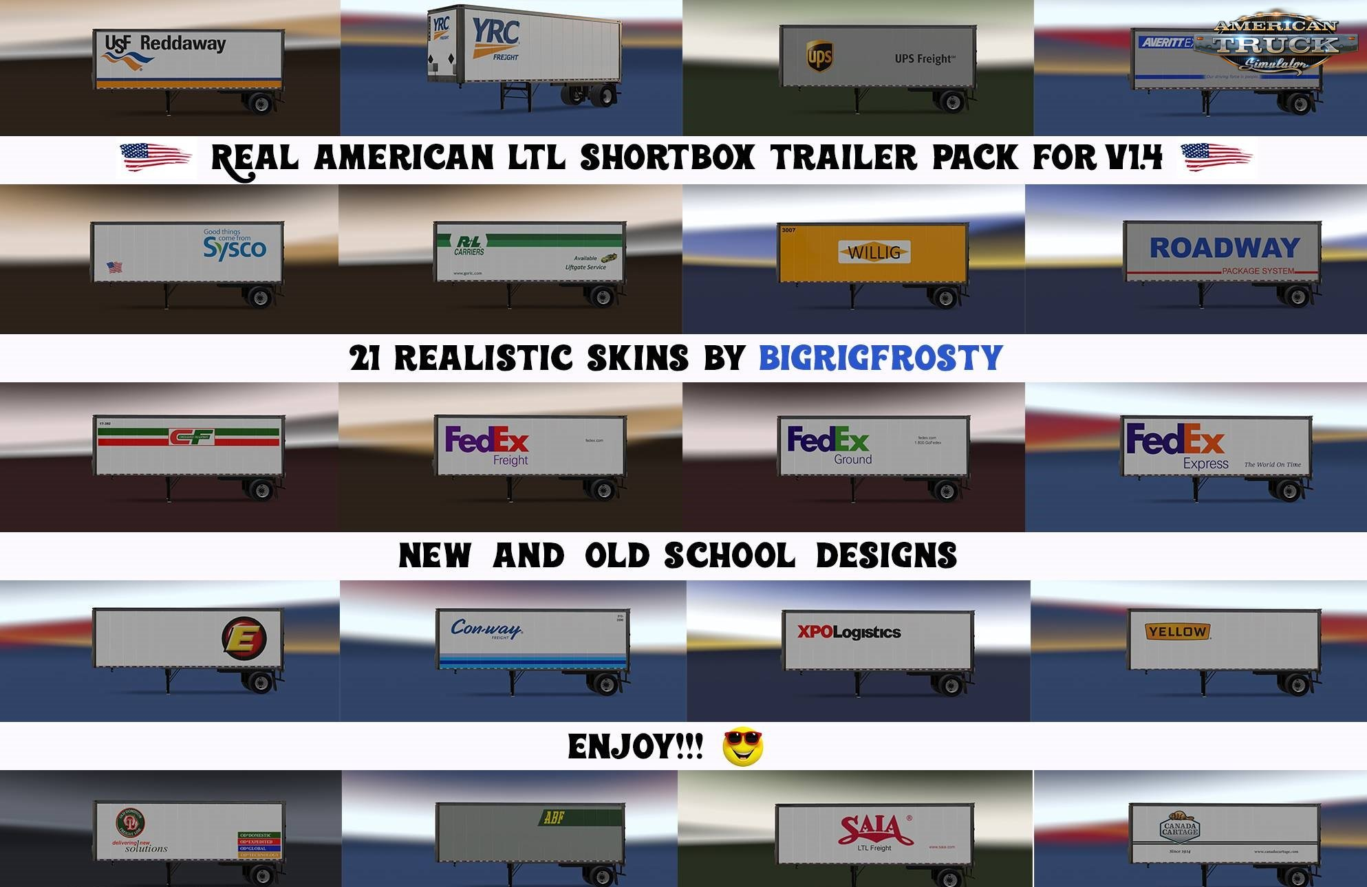 Real American LTL Shortbox Trailer Pack for Ats