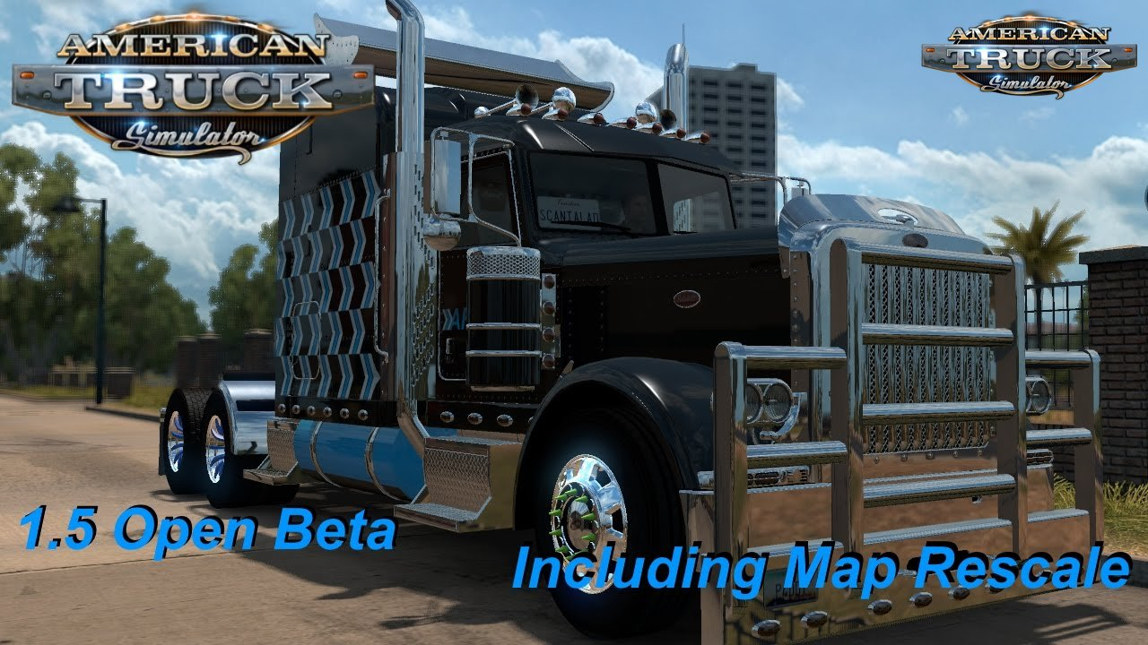 American Truck Simulator - Open Beta v1.5 (video)