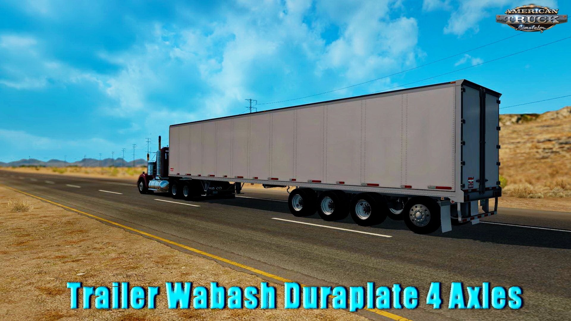 Trailer Wabash Duraplate 4 Axles v1.0 (v1.5.x)