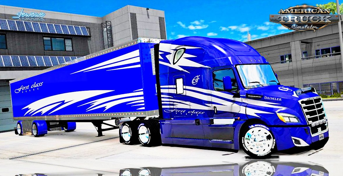 First Class Skin for Freightliner Cascadia 2018 v1.0 (1.5.x)